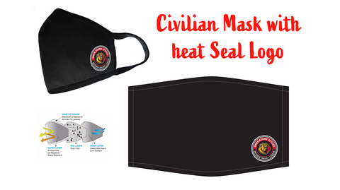 Adult Civilian Mask with Attack Heat Seal Logo