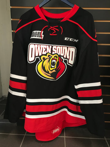 Black Game Issued/Worn Blank Jerseys