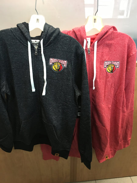 BarDown Owen Sound Attack Full Zip Hooded Sweater