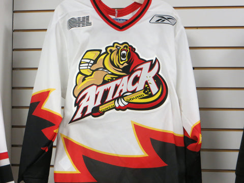 Reebok Vintage Owen Sound Attack Replica Youth Jersey - White