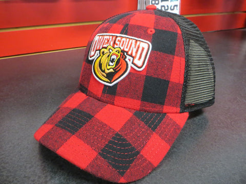PUKKA Plaid Adjustable Mesh Hat