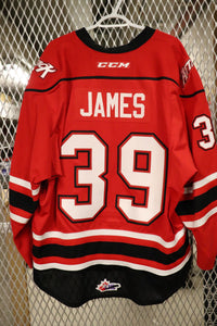 #39 Cordell James Game Worn Jersey