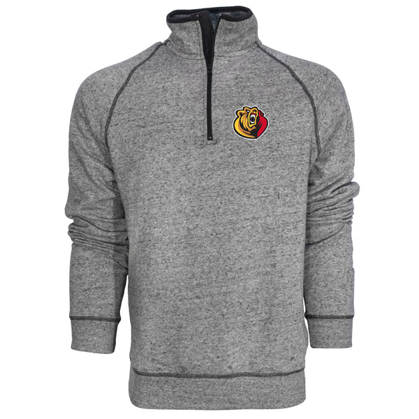 Campus Crew Mens Heritage 1/4 Zip Mock Neck