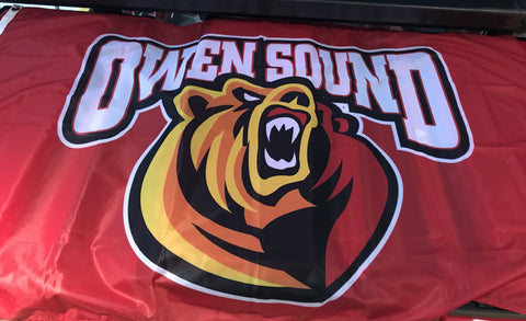3x5 Owen Sound Attack Flag