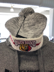 BarDown Pom Pom Grey Toque - Youth