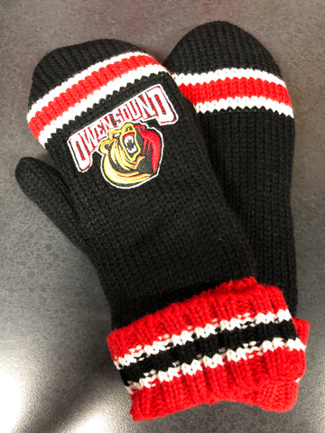 Helping Hands Red & Black Mittens