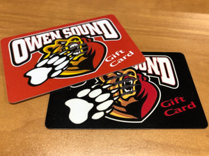 Owen Sound Attack Gift Card