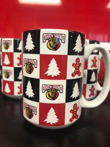 Sublimated 15oz Ceramic Holiday Mug