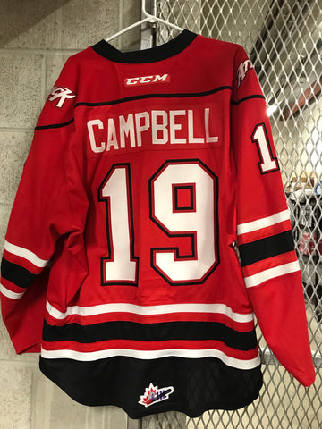#19 Chase Campbell  Game Worn Jersey