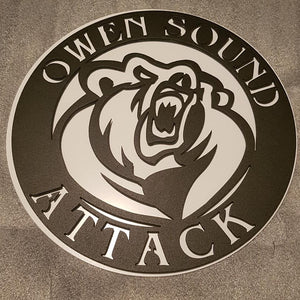 Owen Sound Attack Metal Art