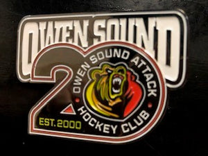 Owen Sound Attack 20th Anniversary Lapel Pin
