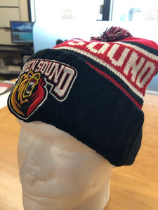 BarDown Custom Toque - PomPom - Red, black, white