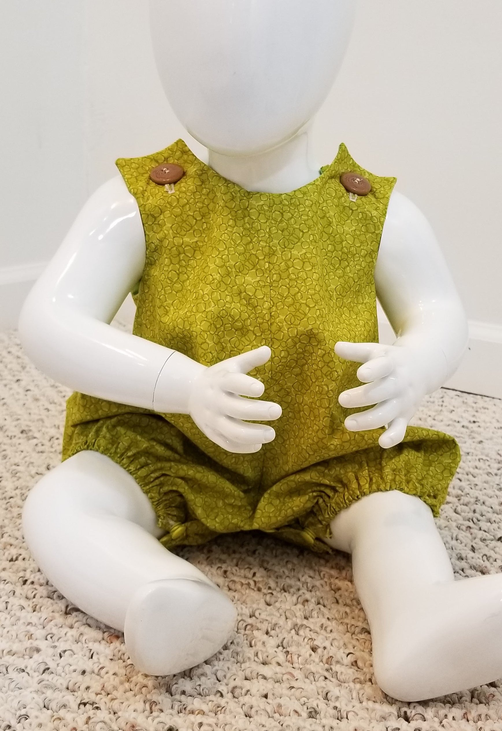 ae51866e6 Baby romper- unisex  olive green (size  0-6 months) - Bosa Modest Wear