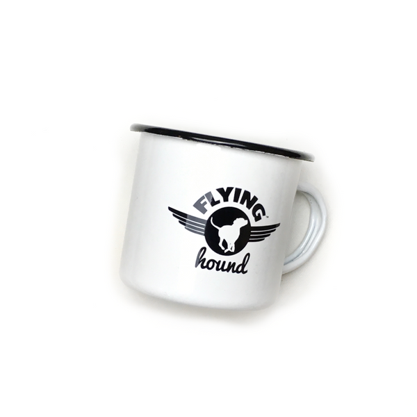 Flying Hound Enamel Mug