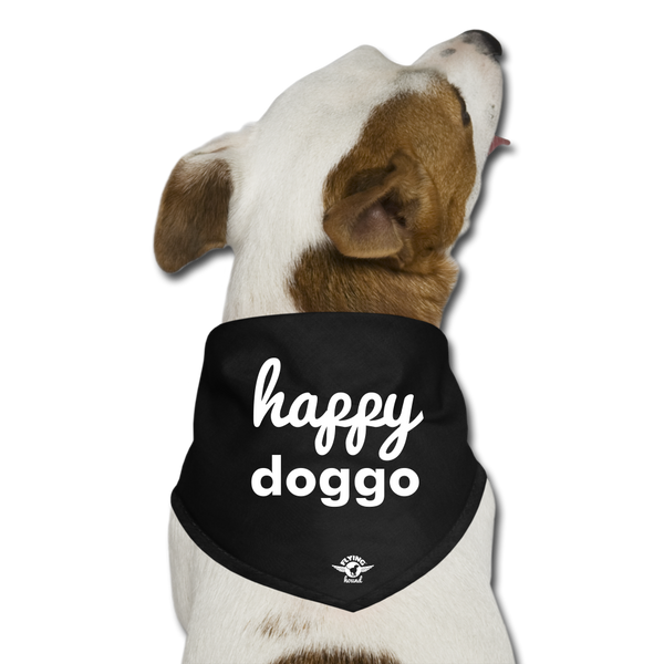 Happy Doggo - Dog Bandana - black