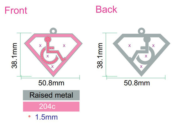 Adaptive S-Man Pink Pendant Necklace