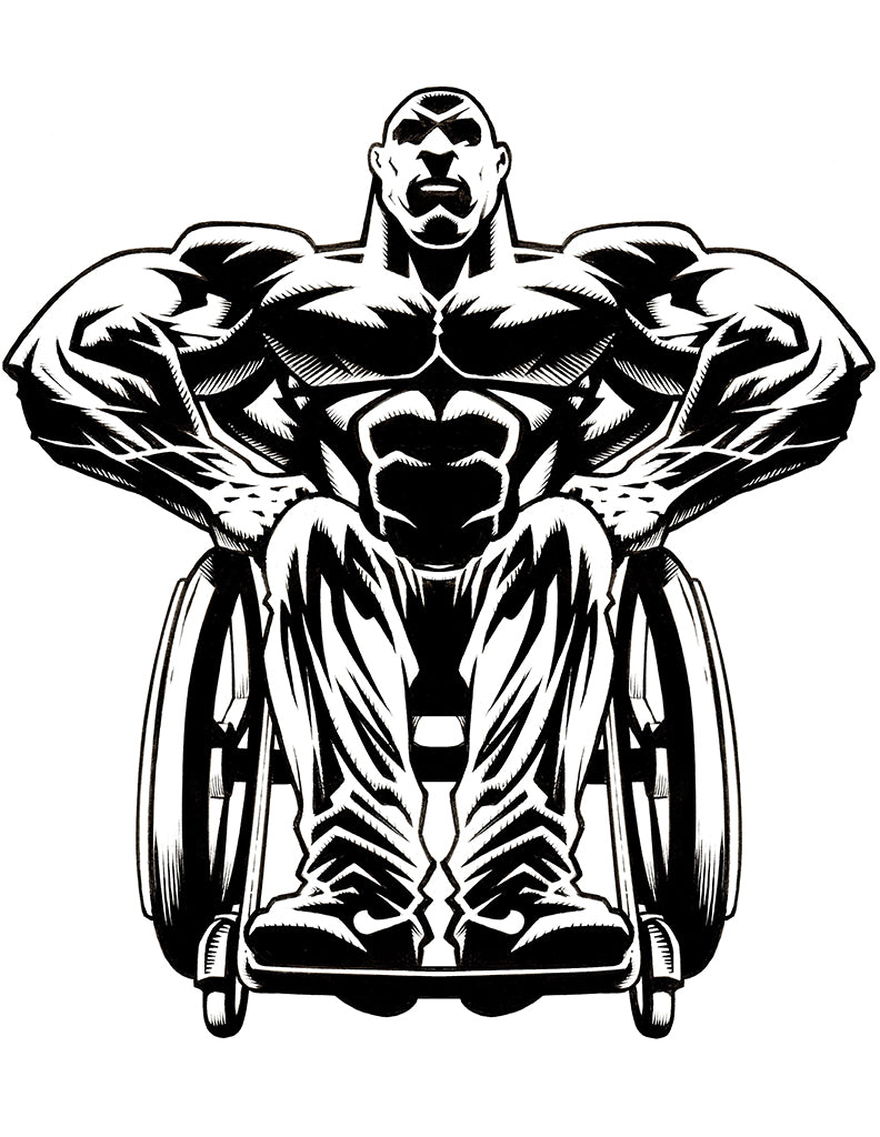 Design #1 - Wheelchair Bodybuilding T-Shirt