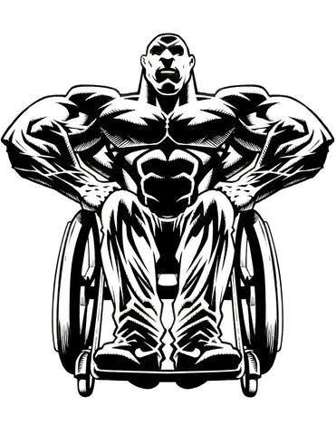 Wheelchair Bodybuilding T-Shirt - Design #1