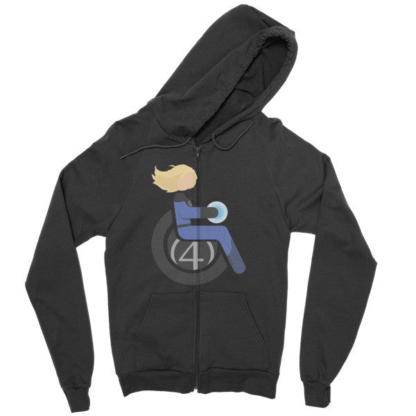 Men's Adaptive Invisible Woman Zip Hoodie