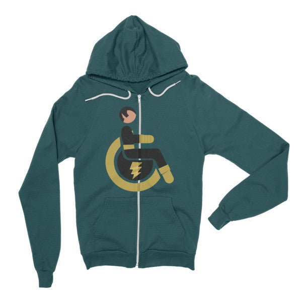 Adaptive Black Adam Flex Zip Hoodie