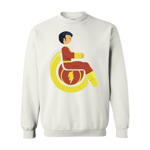 Men's Adaptive Mr. Marvel (Shazam) Crewneck Sweatshirt