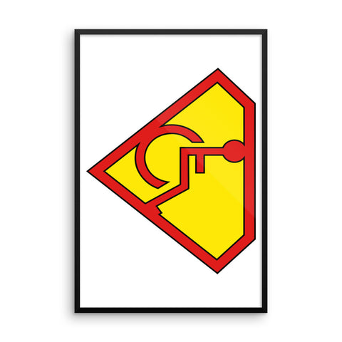 Adaptive S-Man Logo 24x36 Framed Photo Paper Poster