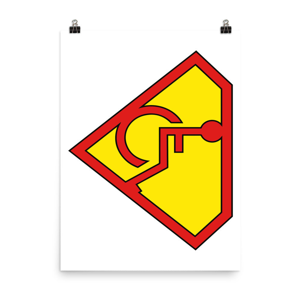 Adaptive Superman Symbol 18x24 Poster