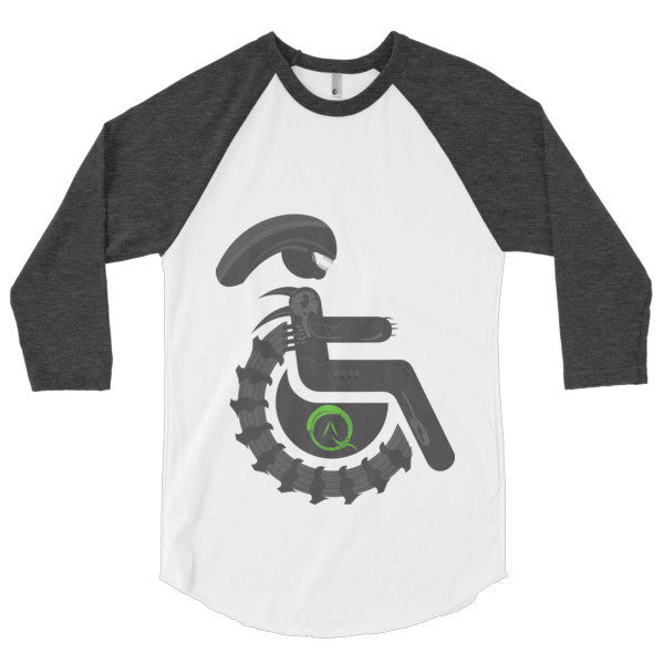 Men's Adaptive Alien Xenomorph Drone 3/4 Sleeve Raglan Shirt