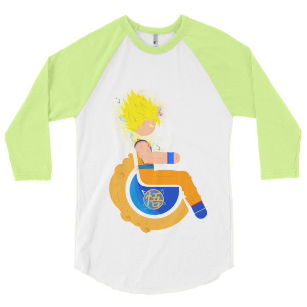 Men's Adaptive Super Saiyan 2 Goku 3/4 Sleeve Raglan Shirt