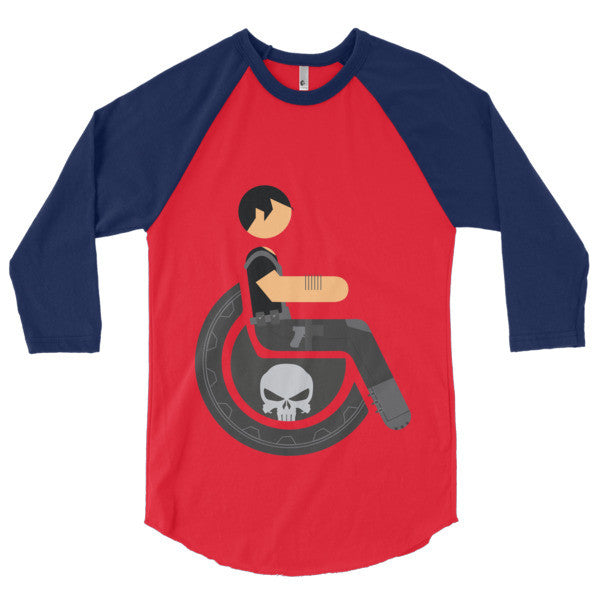 Men's Adaptive Punisher 3/4 Sleeve Raglan Shirt