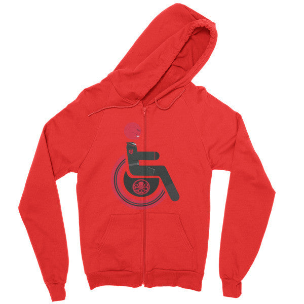 Men's Adaptive Red Skull Zip Hoodie