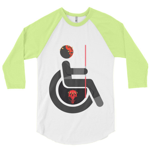 Men's Adaptive Darth Maul 3/4 Sleeve Raglan Shirt