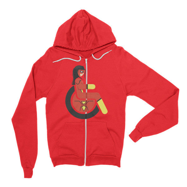 Adaptive Spider-Woman Flex Zip Hoodie