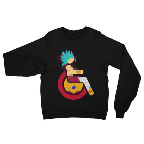 Adaptive Restrained Super Saiyan Broly Raglan Sweater