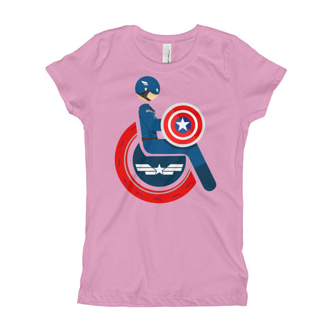 Girl's Youth Adaptive Captain America T-Shirt (XS-XL)