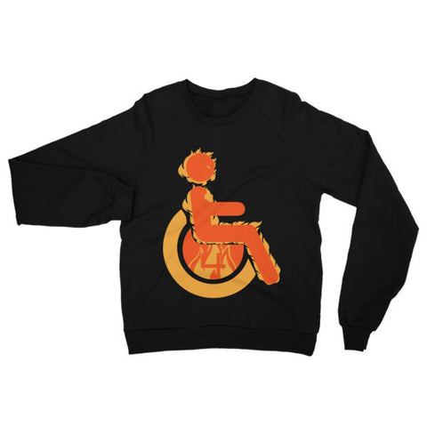 Adaptive Human Torch Raglan Sweater