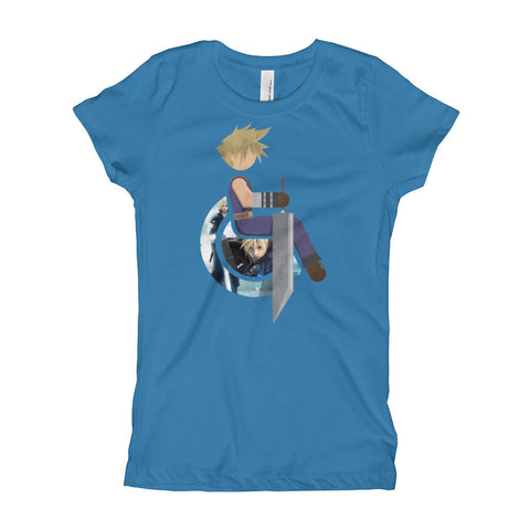 Girl's Youth Adaptive Cloud Strife T-Shirt (XS-XL)
