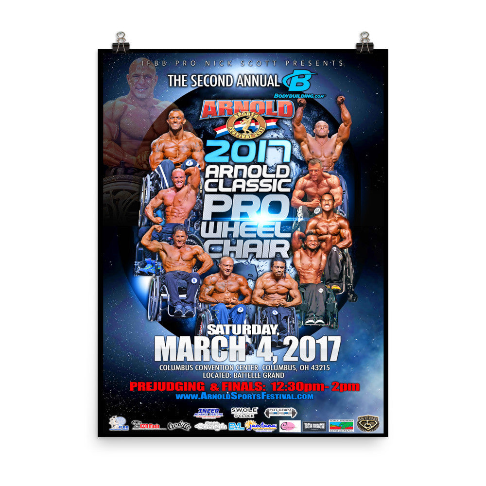 18x24 - 2017 Arnold Classic Pro Wheelchair Official Photo Paper Poster
