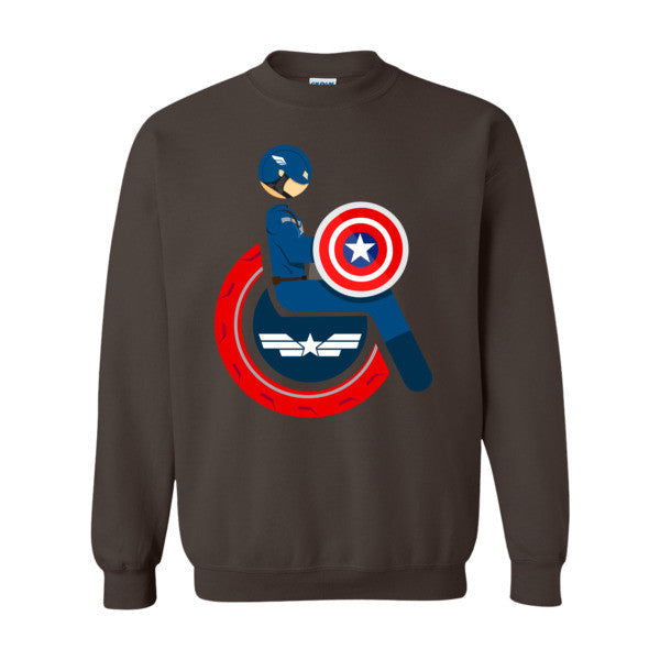 Men's Adaptive Captain America Crewneck Sweatshirt