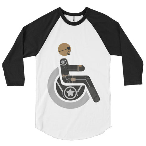 Men's Adaptive Nick Fury 3/4 Sleeve Raglan Shirt