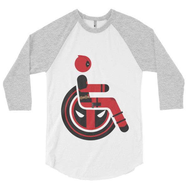 Men's Adaptive Deadpool 3/4 Sleeve Raglan Shirt