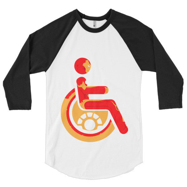 Men's Adaptive Iron Man 3/4 Sleeve Raglan Shirt