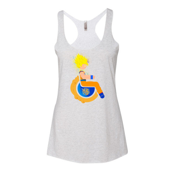 Women's Adaptive Super Saiyan 2 Goku Tank Top (XL)