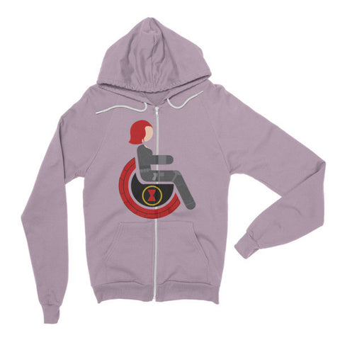 Adaptive Black Widow Flex Zip Hoodie