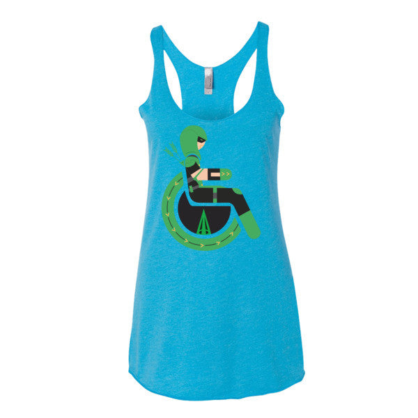 Women's Adaptive Green Arrow Tank Top (XS-L)