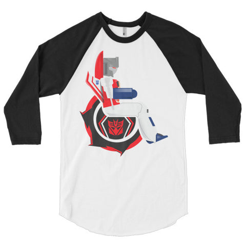 Men's Adaptive Starscream 3/4 Sleeve Raglan Shirt