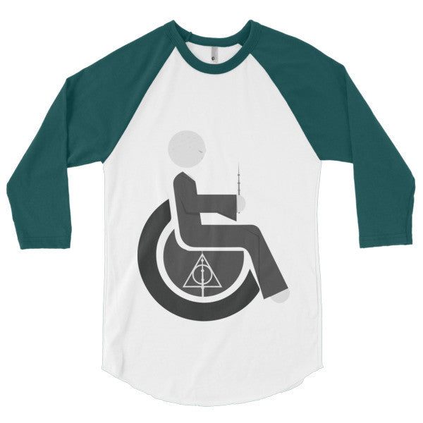 Men's Adaptive Lord Voldemort 3/4 Sleeve Raglan Shirt