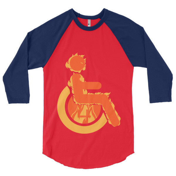 Men's Adaptive Human Torch 3/4 Sleeve Raglan Shirt