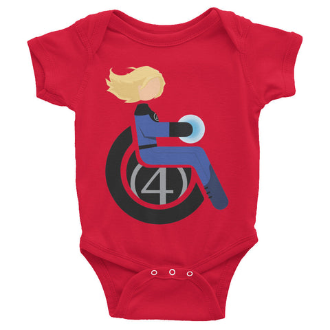 Adaptive Invisible Woman Baby Onesie