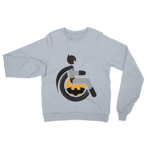 Adaptive Batman Raglan Sweater